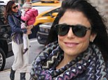 'Reeling it in for a few days!' Bethenny Frankel dresses down for the school run as she vows to take some time off work