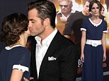 Perks of the job! Chris Pine kisses stunning co-star Keira Knightley as she goes demure for Jack Ryan: Shadow Recruit premiere
