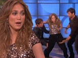 Jennifer Lopez gives birth on live television with the help of her Idol co-stars... but don't worry it is only to win a guessing game