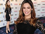 Still part of the scene: Kelly Brook looks lovely in lace as she brings some glamour to Six Nations rugby dinner