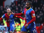 Making up for it: Jason Puncheon celebrates scoring the opening goal for Crystal Palace against Stoke City