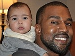 'What an awesome daddy!' Khloe Kardashian shares fun tweet of Kanye West actually smiling for once over his baby girl