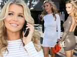 Same theme, different occasion! Joanna Krupa first dons white mini dress for lunch before slipping into another skintight frock at dinner