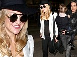 Kate Hudson and Jennifer Connelly at LAX
