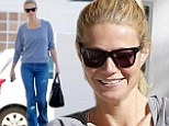 She's a Cali girl at heart! Gwyneth Paltrow grins during balmy Los Angeles day as she steps out in high-waisted jeans