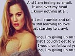 'You're the one I love!' Khloe Kardashian tweets thinly veiled message to Lamar... then shows him what he's missing in sexy shoot
