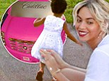 Beyonce has revealed her daughter's first ride - in a snap posted on her Tumblr account.
