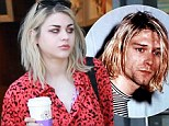 Strong resemblance: Frances Bean Cobain displayed her strong resemblance to her late father Kurt Cobain on Thursday as she left her home in Los Angeles