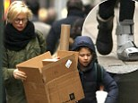 Michelle Williams does the heavy lifting as her daughter Matilda, eight, steps out with a cast on her foot