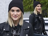 Pout-ley Roberts: Dancing On Ice judge Ashley shoes off new grunge style with plump nude lips and black beanie hat