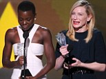 Cate Blanchett is named Best Actress while Lupita Nyong'o gets standing ovation as she wins Best Supporting Actress at Critics' Choice Awards