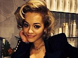 Ready for action! Rita Ora got her blonde hair teased into a Marilyn Monroe style 'do ahead of starting to film her role in Fifty Shades Of Grey