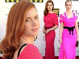 Style stealer! Amy Adams' stunning pink Critics' Choice Movie Awards frock draws comparisons to co-star Jennifer Lawrence's 2011 SAG awards outfit
