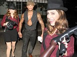 Kelly Brook gets a gangster makeover for Ellen Von Unwerth's 60th birthday... as new man David McIntosh gets his 'guns' out too