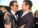 Critics' Choice winner Matthew McConaughey dons steely Lanvin tuxedo and hugs it out with former co-star Bradley Cooper