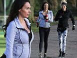 Keeping up appearances: Pregnant Tamara Ecclestone shows off her blossoming baby bump while working out with model Nell McAndrew