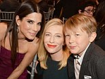 Mingling with VIPs: Cate Blanchett took her son Ignatius to the Critics' Choice Awards in LA on Thursday