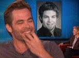 'You can take that picture down now!' Chris Pine collapses into mortified giggles as Ellen reveals his embarrassing high school photo... with a mullet