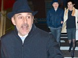 Date night! Matt Lauer forgoes sleep to treat his wife Annette Roque to a romantic dinner