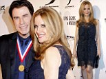 Happy after all? Smiling John Travolta cuddles lovely in lace Kelly Preston at event despite divorce rumors