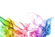 abstract smoke background in spectrum colors