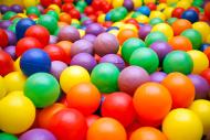 Ball pool close-up