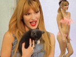 'I'm always laughing!' Bella Thorne cuddles kittens and frolics in bikinis behind the scenes of her Candie's photo shoot