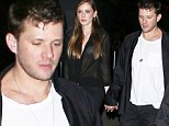 Ryan Phillippe holds his law school girl friend's hand as they exit a SAG after party Saturday night in Hollywood
