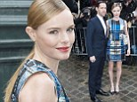 Check mate! Kate Bosworth ticks all the right boxes in her tartan outfit at Dior show in Paris with husband Michael Polish
