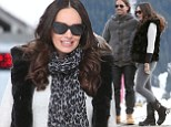Pregnant Tamara Ecclestone and husband Jay Rutland cuddle up in the snow on Swiss babymoon