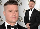 'It's not a choice!' Brad Pitt reveals his mohawk is for new film... then threatens to kiss Steve McQueen at Producers Guild Awards