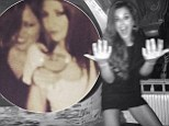 'I can't even remember last night!' Cheryl Cole shares drunken Instagram shot after 'messy' night out with Kimberley Walsh and Nicola Roberts