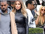 Copycats! Kim Kardashian and Kanye West hit up Beyonce and Jay Z's favorite restaurant in Paris