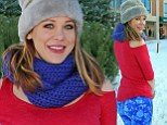 Notice me! Boy Meets World actress Maitland Ward stands out in DayGlo Sundance outfit