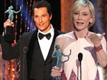 It's a hat-trick! Cate Blanchett and Matthew McConaughey continue winning their streak as they scoop Best Actor and Best Actress SAG Awards