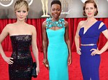 All the dresses! Amy Adams, Jennifer Lawrence and Lupita Nyong'o dazzle as they hit the red carpet at the Screen Actors Guild Awards