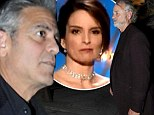 'She poked the bear with a stick': George Clooney cooking up revenge on Tina Fey for her Golden Globes dig as he looks dapper dining out with Bill Murray