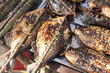 Grilled fish in market