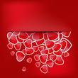 Paper Sticker Valentine's day. EPS 10