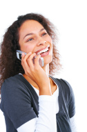 Laughing over the phone