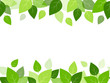 Horizontal seamless background with green leaves.
