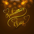Beautiful valentine's day card colorful background stylish text