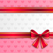 Valentine background with pink ribbon