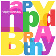 """""""HAPPY BIRTHDAY"""" Letter Collage (congratulations card message)"""