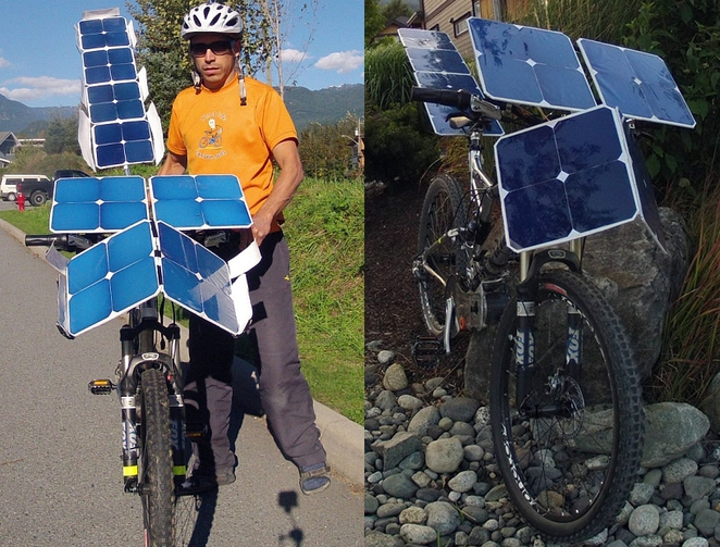 SolarCross e-bike with solar panels photo