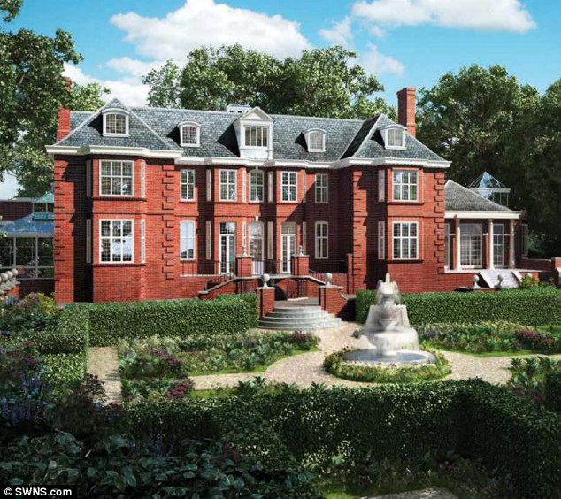 Extravagance: Jumean¿s £75¿million property, which needs a further £10million of renovation, is a mansion complete with staff cottage, huge garden and seven bedrooms in West Kensington, central London