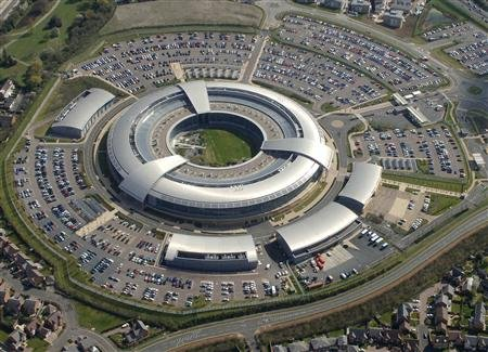 Britain's Government Communications Headquarters (GCHQ) in Cheltenham is seen in this undated handout aerial photograph. Reuters/Handout