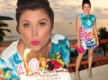 Saved by the face cream? Tiffani Thiessen proves age is just a number as she celebrates her 40th birthday in Mexico