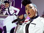 Janelle Monae performed at VH1's Super Bowl Blitz on Tuesday night