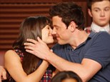 Enduring love: Lea pictured with her deceased boyfriend Cory on an episode of Glee